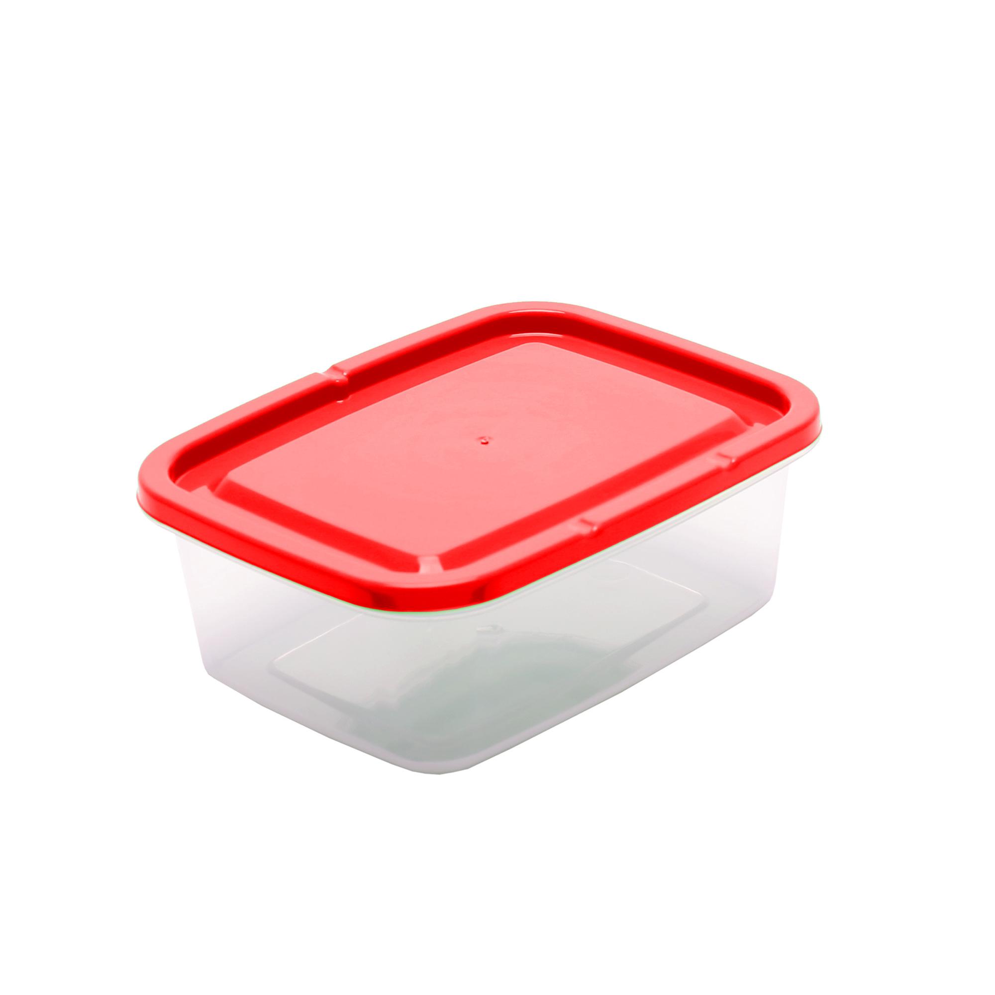 Pote Retangular 0.8 L - Vermelho