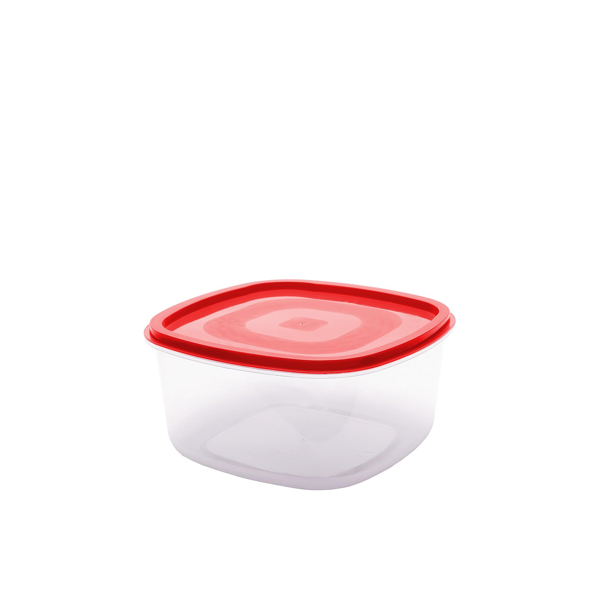Pote Quadrado Liso 0.25 Lts - Vermelho