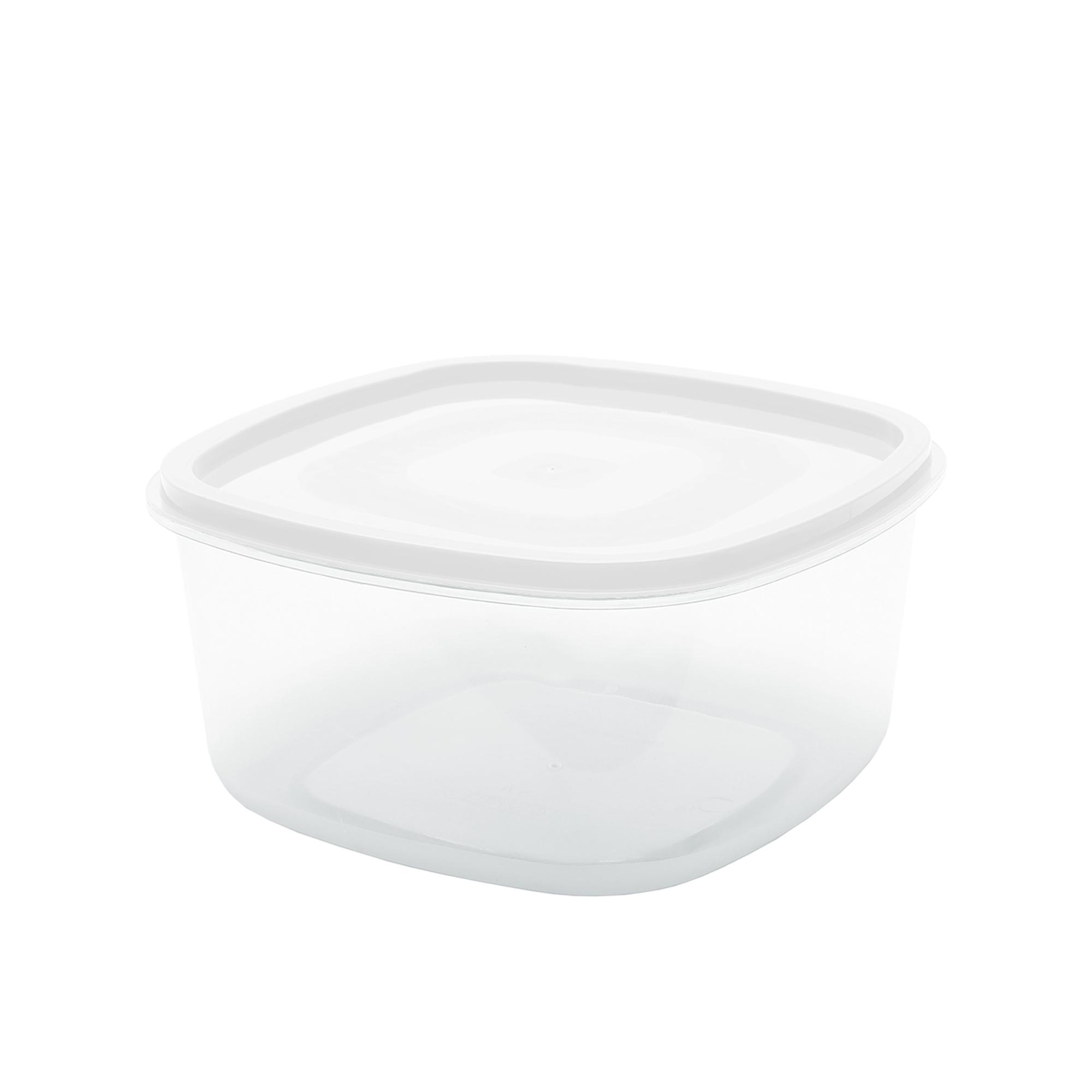 Pote Quadrado Liso 0.7 L - Branco