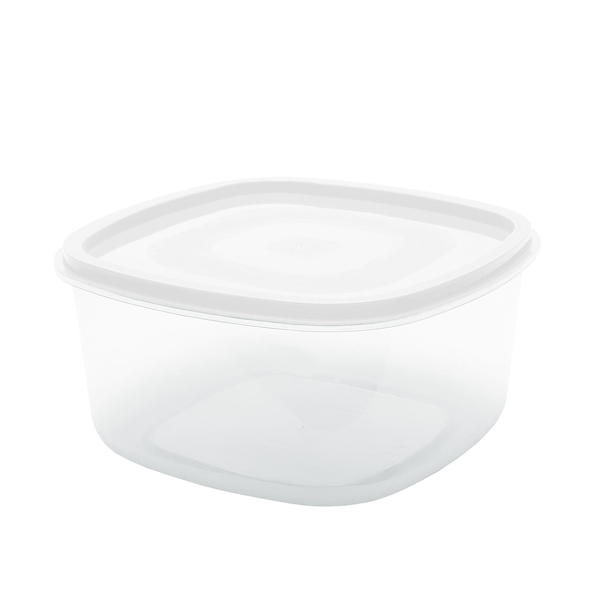 Pote Quadrado Liso 1.2 L - Branco