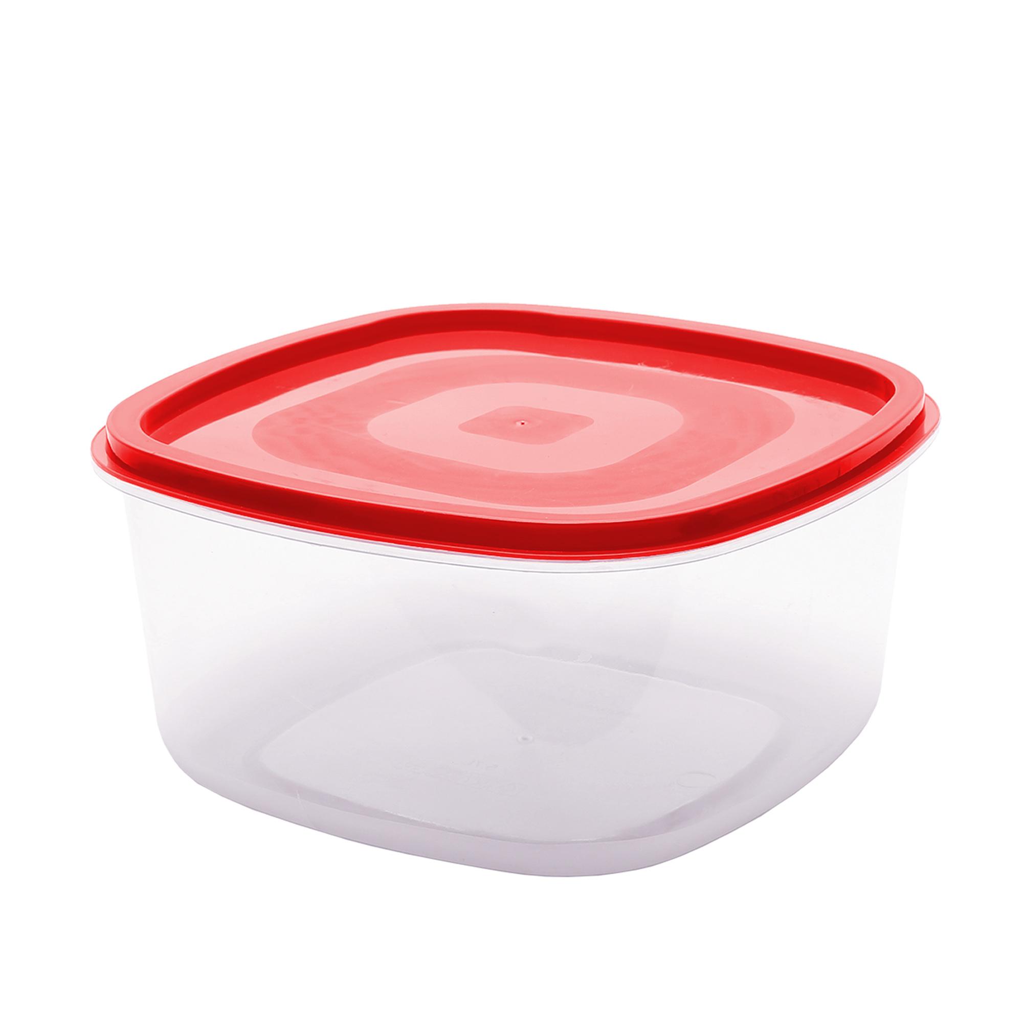 Pote Quadrado Liso 1.2 L - Vermelho