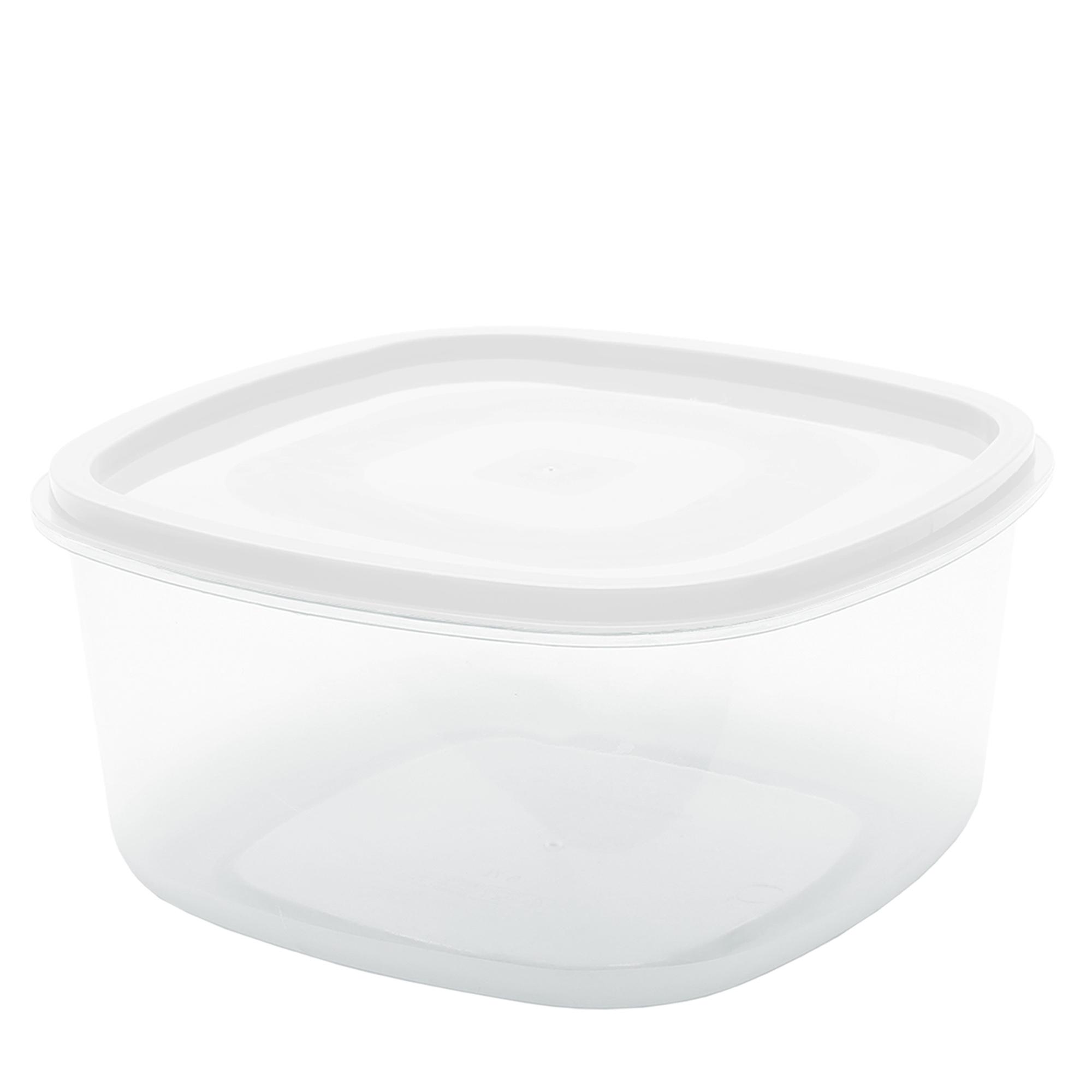 Pote Quadrado Liso 3.3 L - Branco