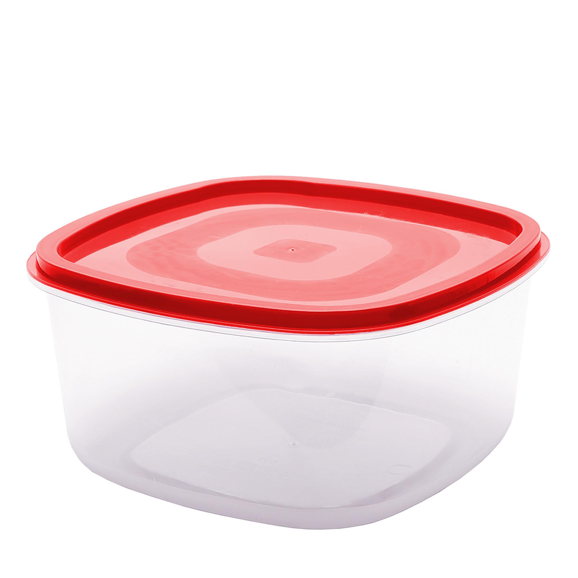 Pote Quadrado Liso 3.3 L - Vermelho