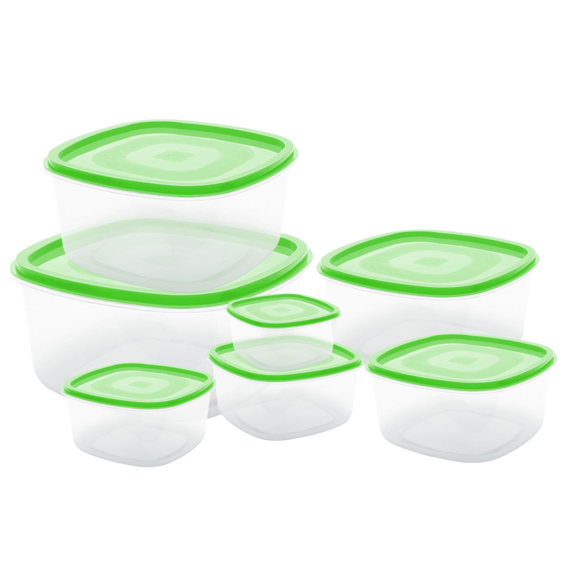 Conj 7 Potes Quadrados - Verde