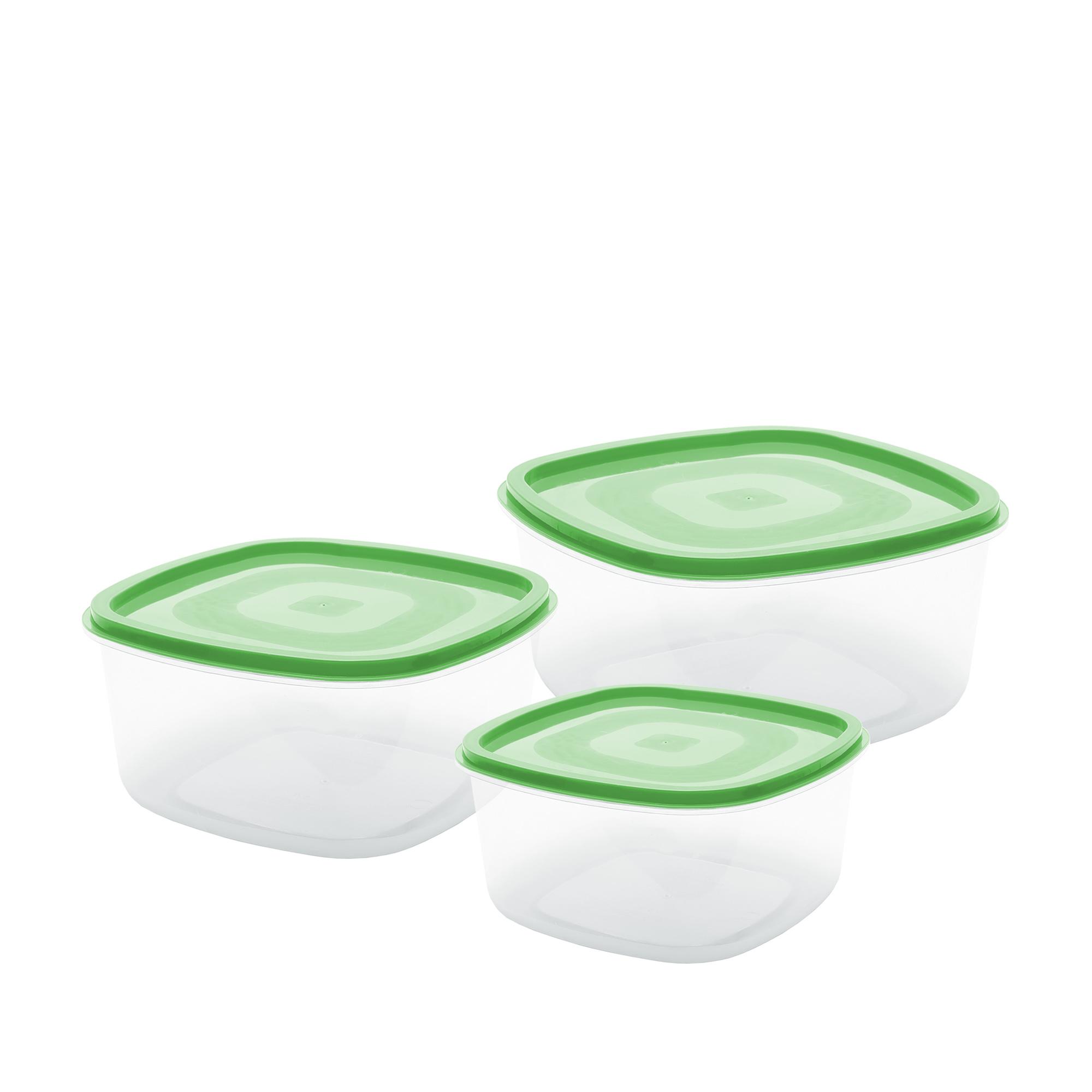 Conj 3 Potes Quadrados M - Verde