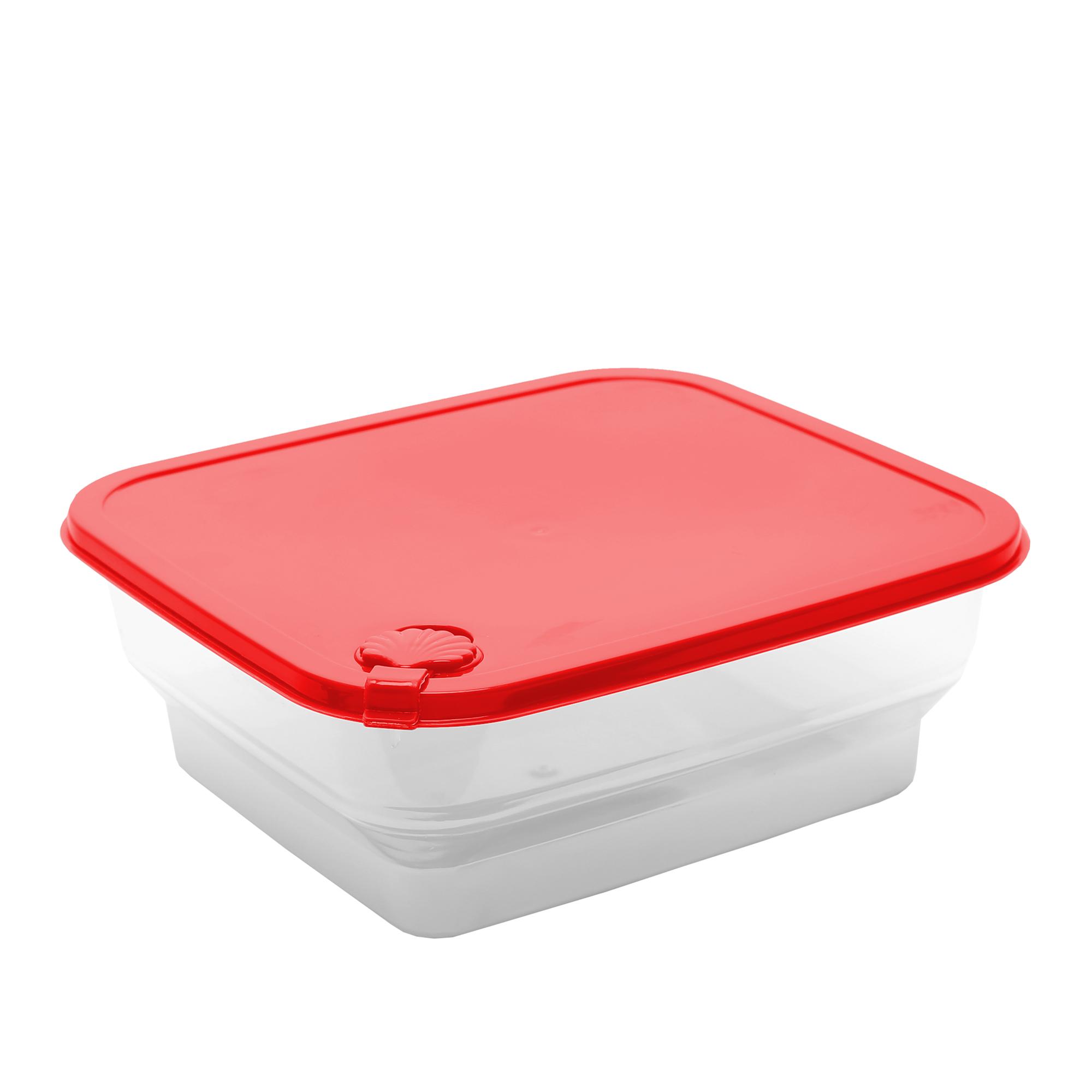 Pote Concha Quadrado 1.6 Lts - Vermelho