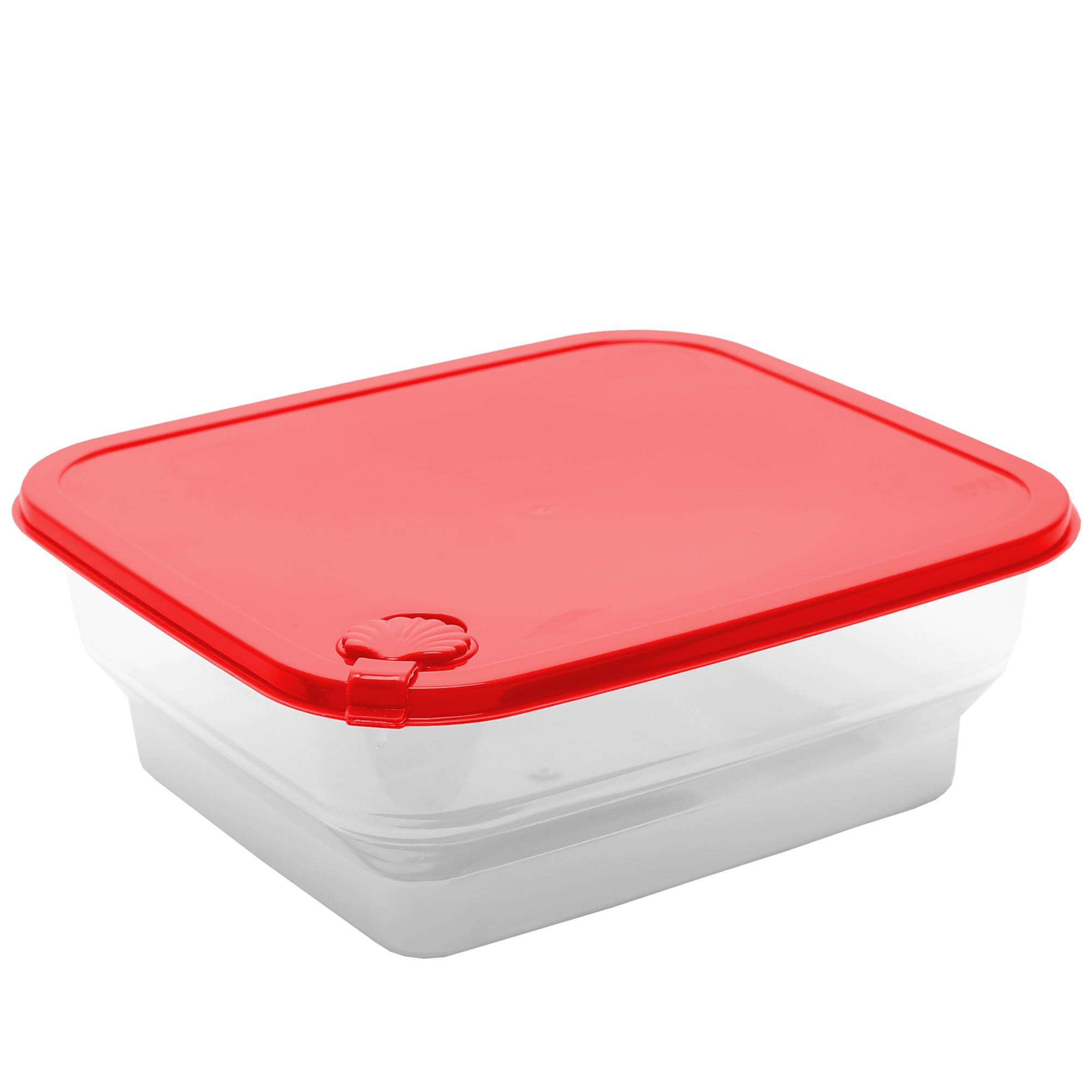 Pote Concha Quadrado 2.4 Lts - Vermelho