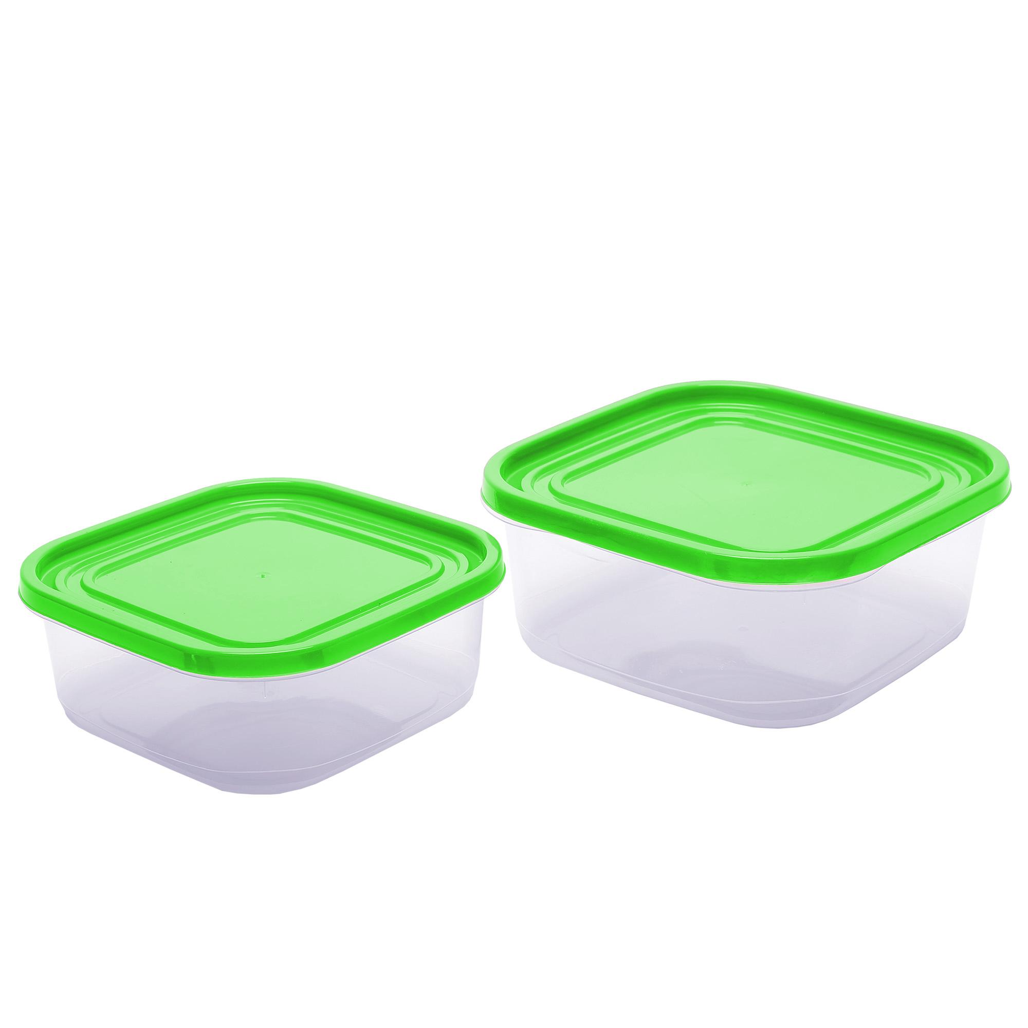 Conj 2 Potes Jateados Quadrados - Verde