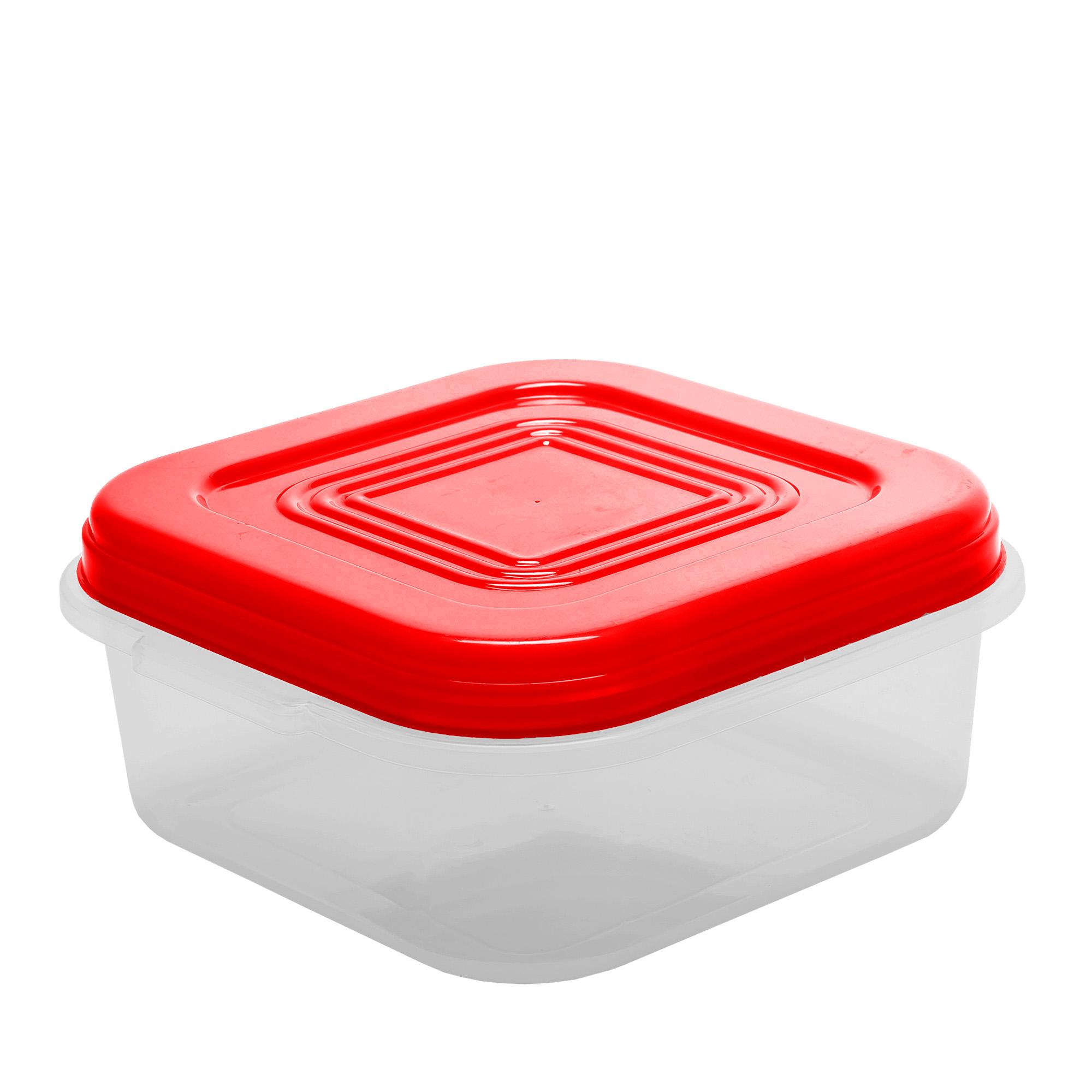Pote Quadrado 3.4 Lt - Vermelho
