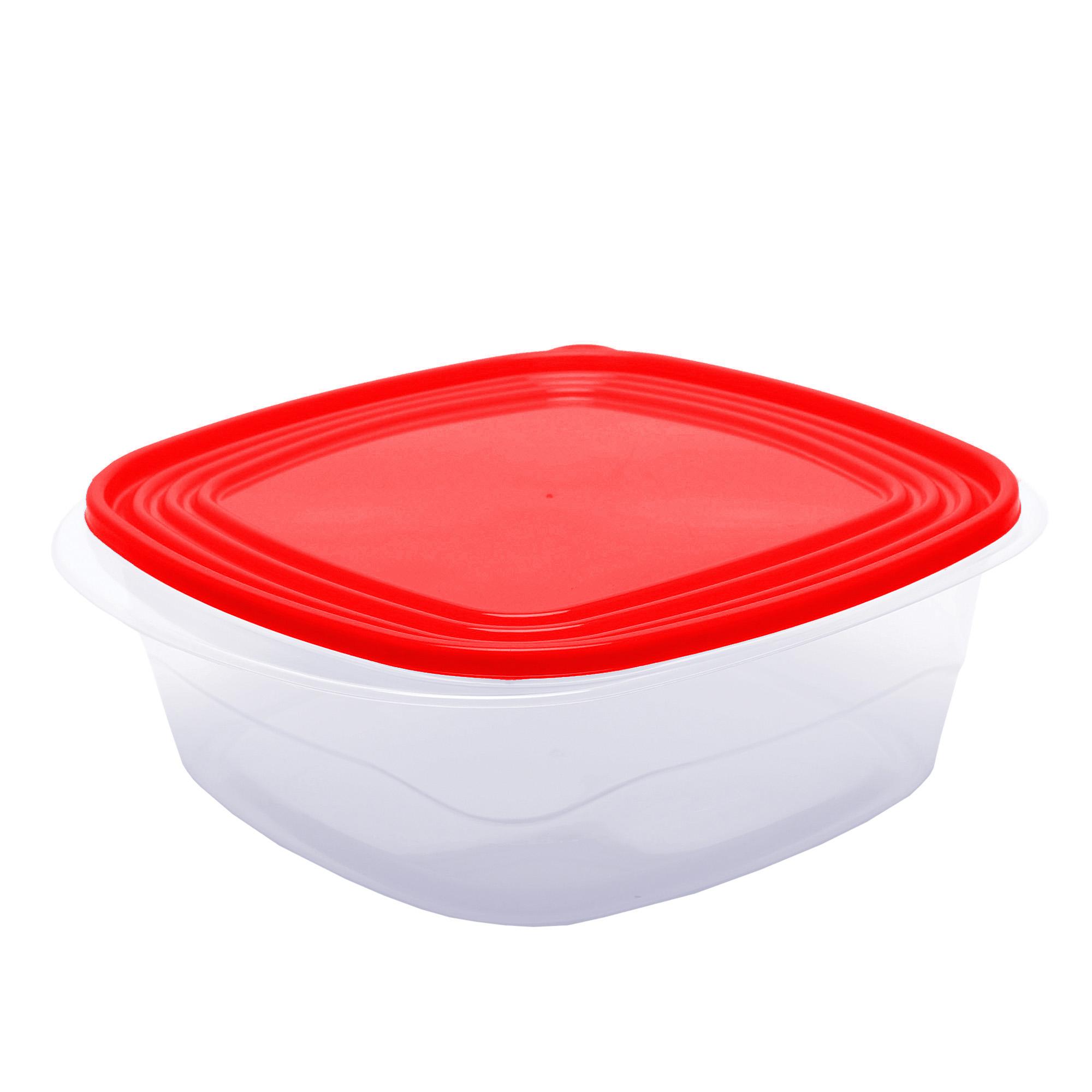 Pote Quadrado com Abas 3.100 Ml - Vermelho