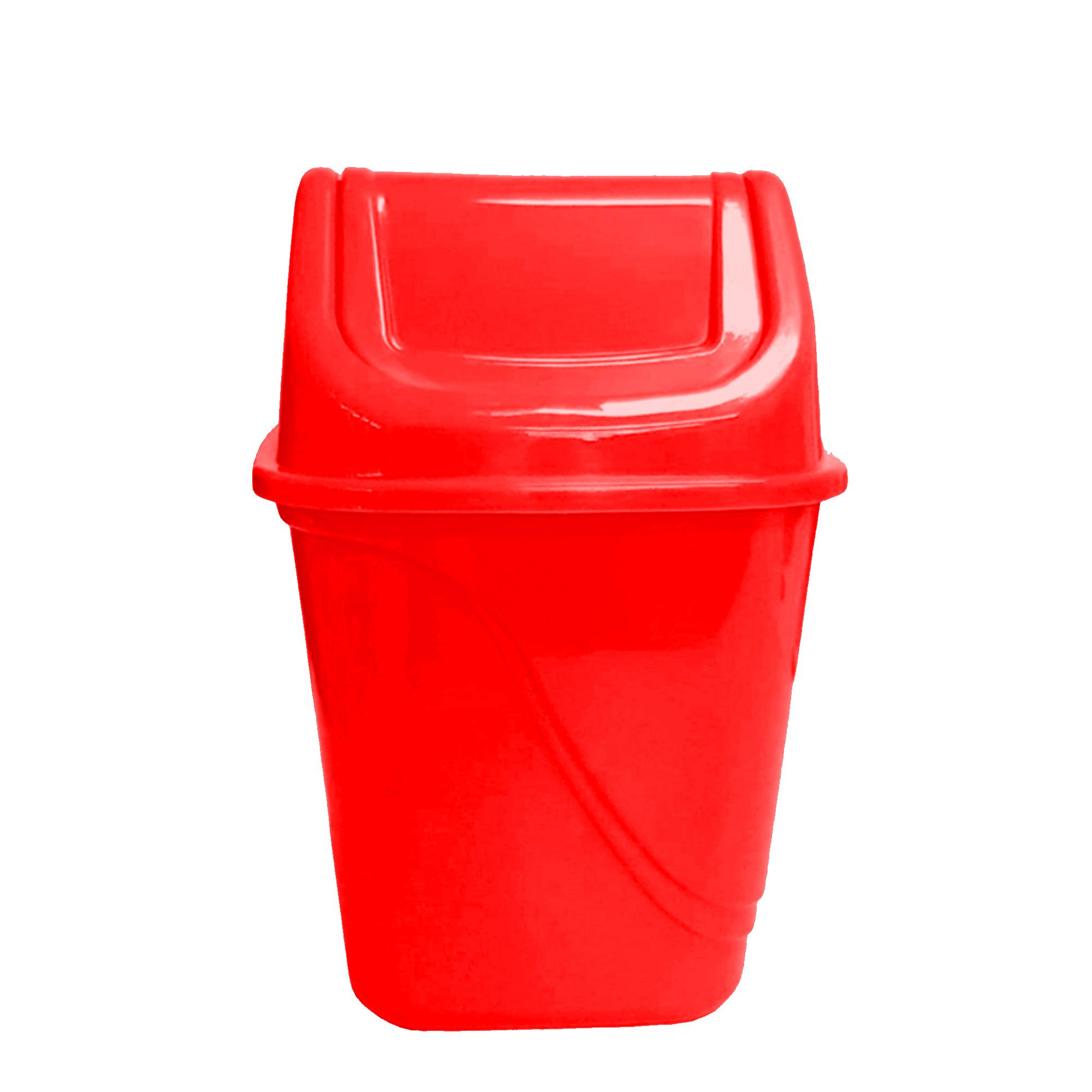 Lixeira Quadrada Basculante 3.2 L - Vermelho