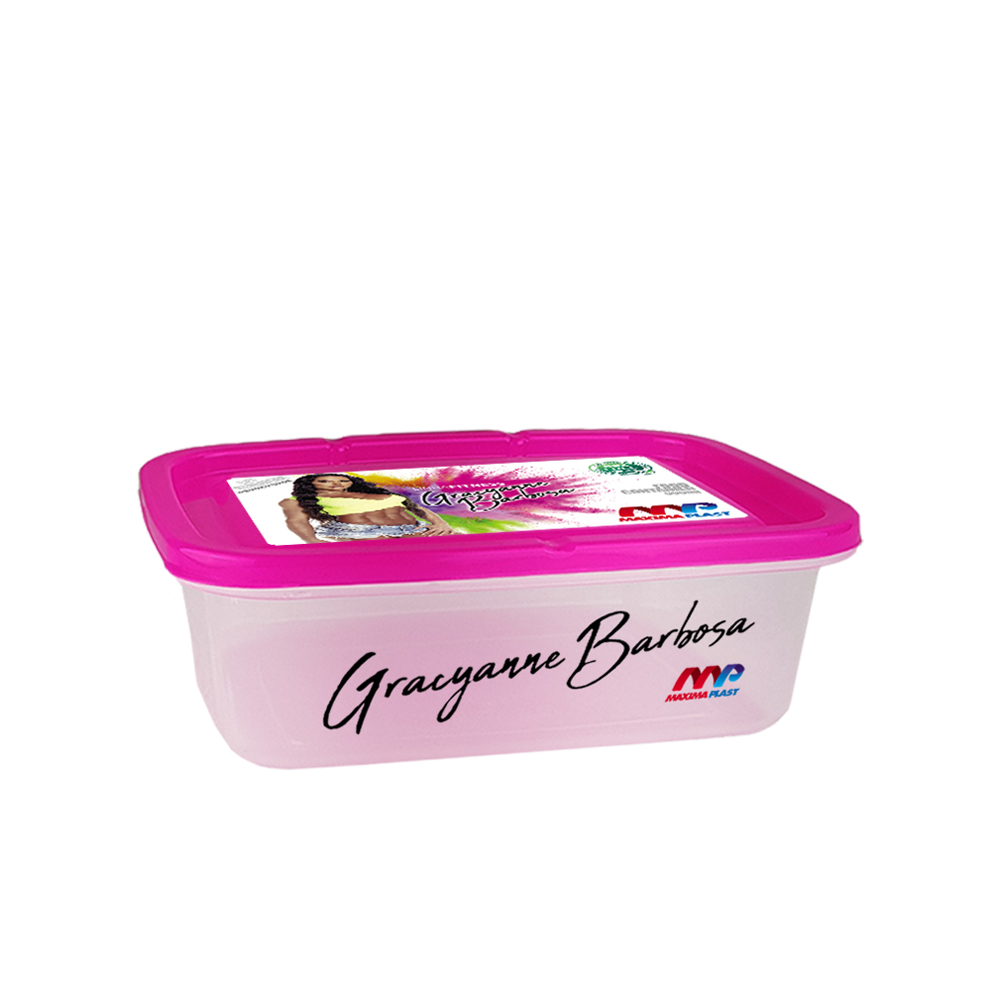 Food Container Gra 800 Ml - Pink